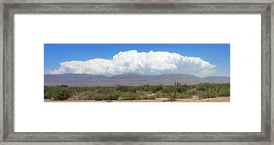 Sacramento Mountains Storm Clouds Framed Print by Jack Pumphrey