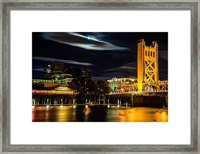 Sacramento Night Framed Print