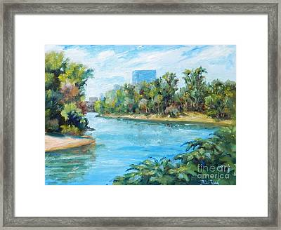 Sacramento River Confluence Framed Print by William Reed