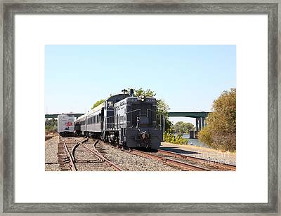 Sacramento Southern Railroad Locomotive 5d25515 Framed Print by Wingsdomain Art and Photography