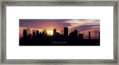 Sacramento Sunset Framed Print by Aged Pixel