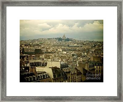 Sacre-coeur And Roofs Of Paris. France.europe. Framed Print by Bernard Jaubert