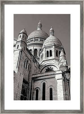 Sacre Coeur Architecture  Framed Print by Olivier Le Queinec