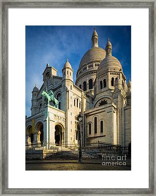 Sacre Coeur At Dawn Framed Print by Inge Johnsson
