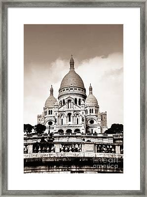 Sacre Coeur Basilica In Paris Framed Print by Elena Elisseeva