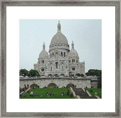 Sacre Coeur Basilica Framed Print by Kay Gilley