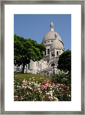Sacre Coeur Flowers Framed Print by Jeremy Voisey