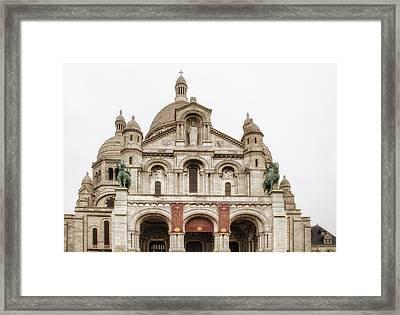 Sacre Coeur  Framed Print by Georgia Fowler