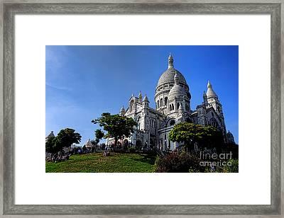Sacre Coeur On Butte Montmartre Framed Print by Olivier Le Queinec