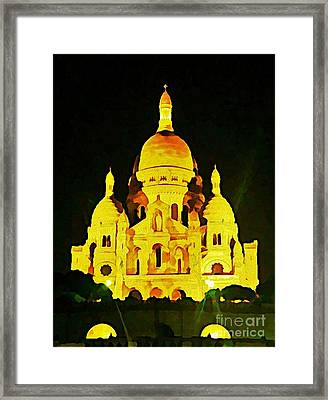 Sacre-coure Cathedral Paris  Framed Print by John Malone