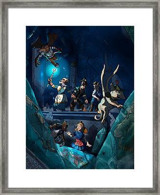 Sacred Burial Chamber Framed Print