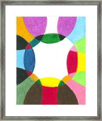 Sacred Circle Of Light Framed Print