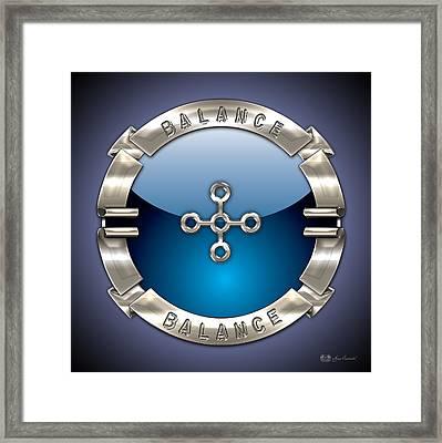 Sacred Circuitry - 3 Balance Framed Print by Serge Averbukh