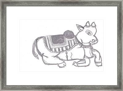 Sacred Cow Framed Print by Melissa Vijay Bharwani