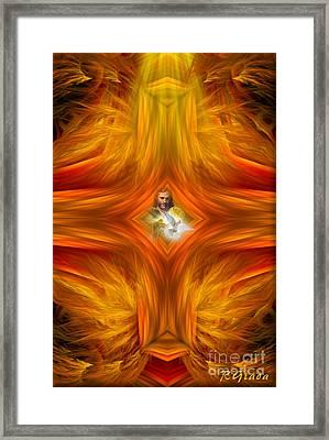 Sacred Cross Framed Print by Giada Rossi