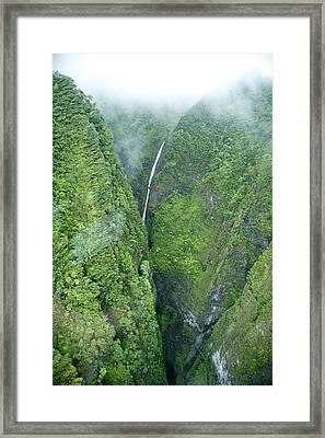 Sacred Falls - Hawaii Framed Print by Sean Davey