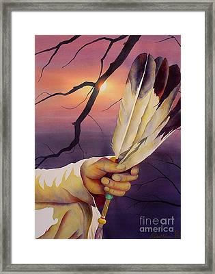 Sacred Feathers Framed Print by Robert Hooper