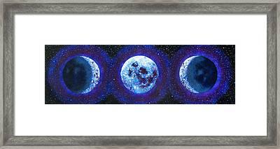 Sacred Feminine Blue Moon Framed Print
