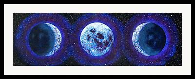 Sacred Feminine Moon Framed Prints