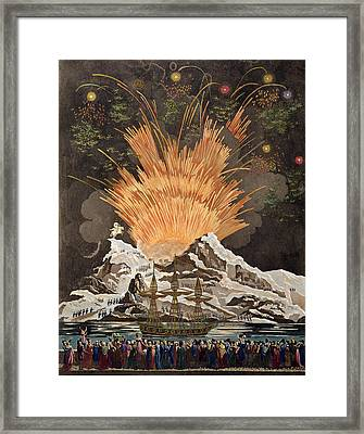 Sacred Festival And Coronation Framed Print by Louis Le Coeur