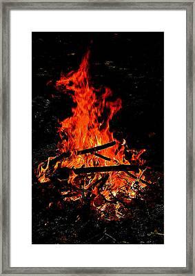 Sacred Fire Framed Print by David  Brown