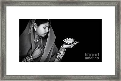 Sacred Flower Framed Print by Tim Gainey