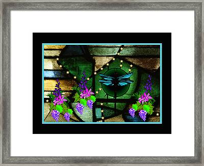 Framed Print featuring the digital art Sacred Garden by Mary Anne Ritchie