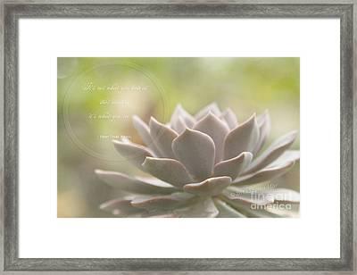 Sacred Garden Framed Print by Sharon Mau
