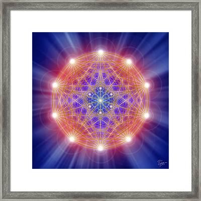Sacred Geometry 168 Framed Print by Endre Balogh