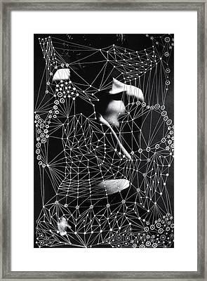 Sacred Geometry Mixed Media Art By Maria Lankina Framed Print