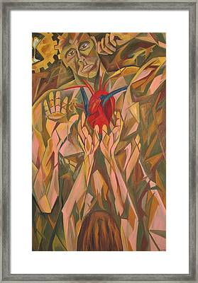 Sacred Heart And Thoughtful Mind Framed Print by Carter Gillis