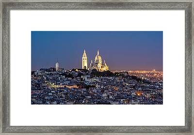 Sacred Heart At The Summit Of Montmartre Paris Framed Print