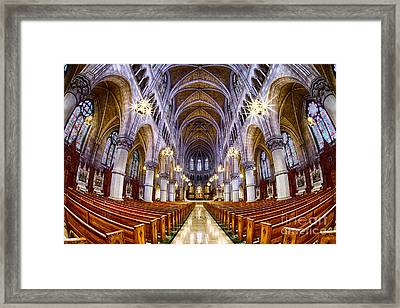 Sacred Heart Basilica Framed Print by Jerry Fornarotto