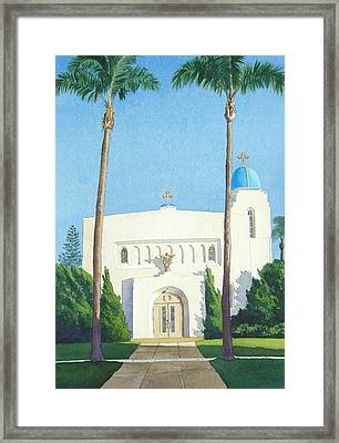 Sacred Heart Church Coronado Framed Print by Mary Helmreich
