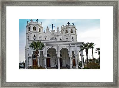 Framed Print featuring the photograph Sacred Heart Church by John Collins