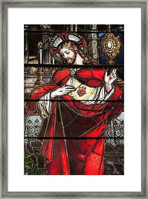 Sacred Heart Of Jesus Framed Print