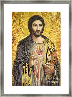 Sacred Heart Of Jesus Olmc Framed Print by Smith Catholic Art