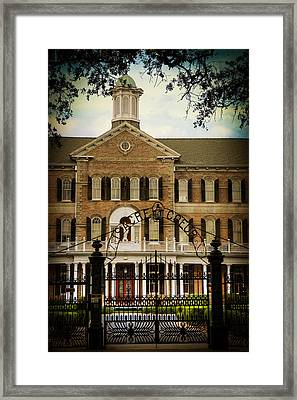 Sacred Heart School Framed Print by Ray Devlin