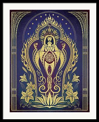 Sacred Feminine Framed Prints