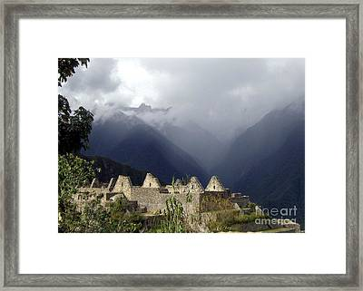Sacred Mountain Echos Framed Print by Barbie Corbett-Newmin