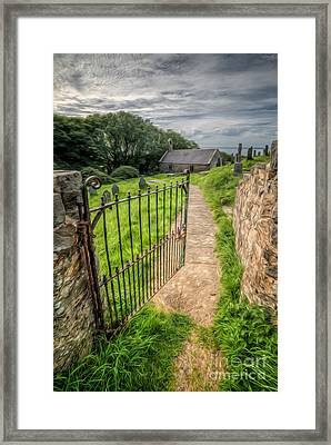 Sacred Path Framed Print by Adrian Evans