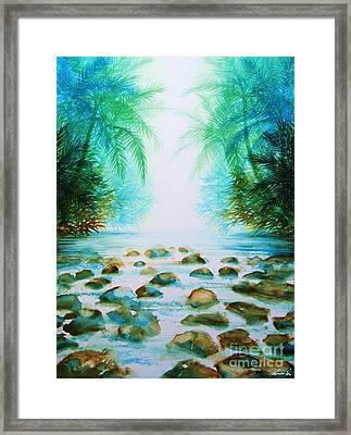 Sacred Pools Framed Print