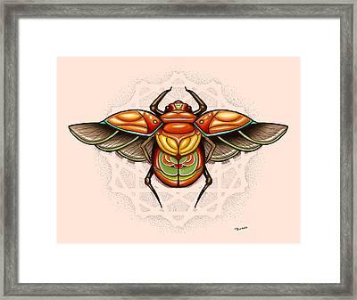 Sacred Scarab Framed Print by Matt Truiano
