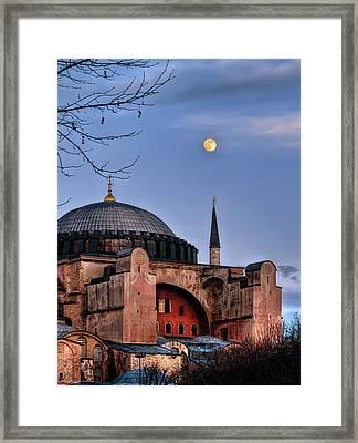Sacred Silence Hagiasofia Framed Print