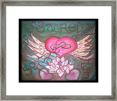 Sacred Soulmates And Twin Flames Framed Print