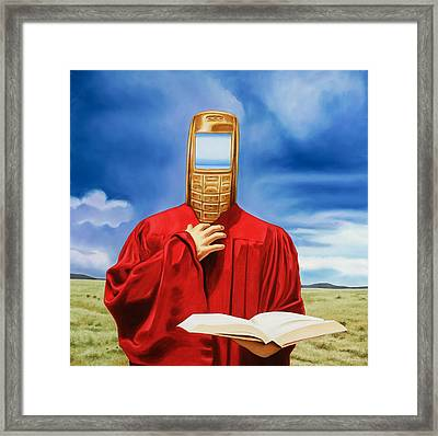 Sacred Text Framed Print by Charles Luna