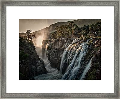 Sacred Waterfalls Framed Print