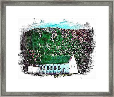 Sacret Heart Church Framed Print by Barbara Griffin