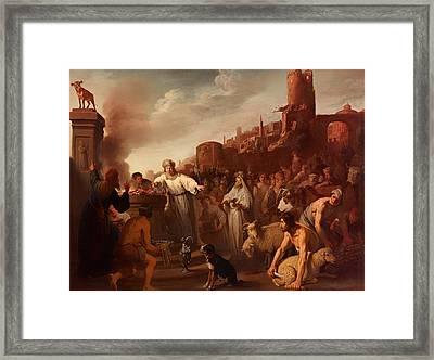 Sacrifice Of Jereboam Framed Print by Mountain Dreams