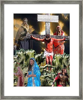 Sacrifice Of The Lamb Framed Print by Terry Wallace